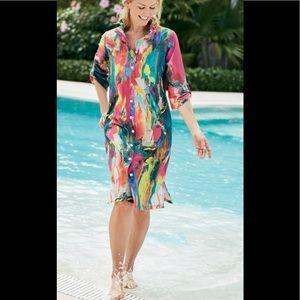 Soft Surroundings Boca Grande shirt dress size S